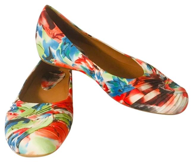 Earthies Multi-colored Vanya Small Wedge Flats Size US 8.5 Regular (M, B) Earthies Multi-colored Vanya Small Wedge Flats Size US 8.5 Regular (M, B) Image 1