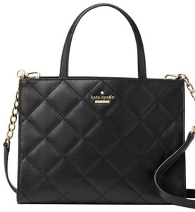 Kate Spade New York Emerson Place Sam Leather Shoulder Satchel Quilted Cross Body Bag