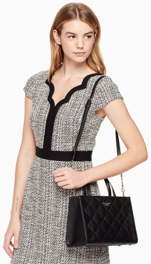 Kate Spade New York Emerson Place Sam Leather Shoulder Satchel Quilted Cross Body Bag Image 1