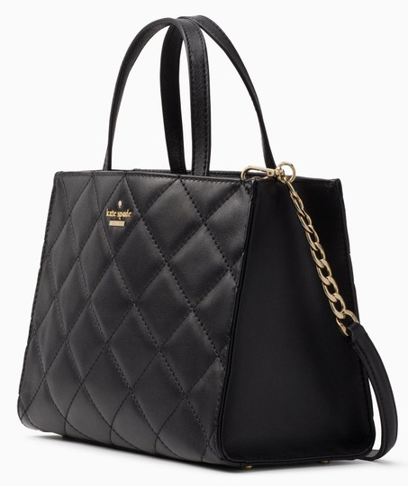 Kate Spade New York Emerson Place Sam Leather Shoulder Satchel Quilted Cross Body Bag Image 2