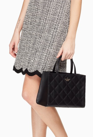 Kate Spade New York Emerson Place Sam Leather Shoulder Satchel Quilted Cross Body Bag Image 4