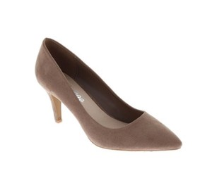 Weeboo Man Made Faux Suede Vegan Taupe Pumps