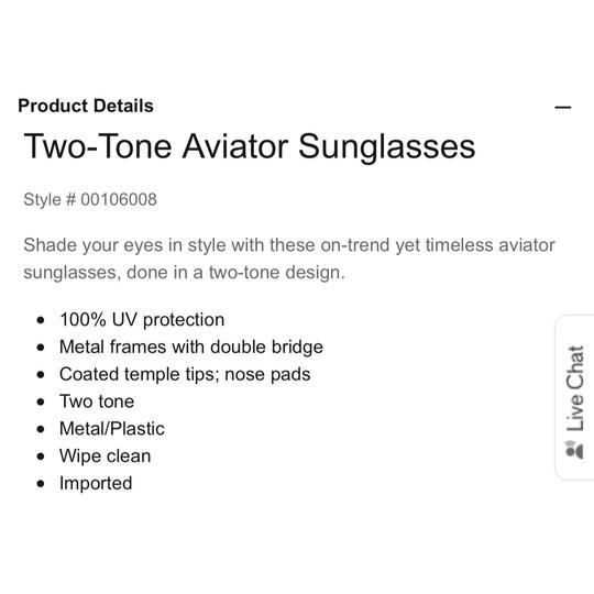 Express express two-tone Aviator sunglasses Image 1