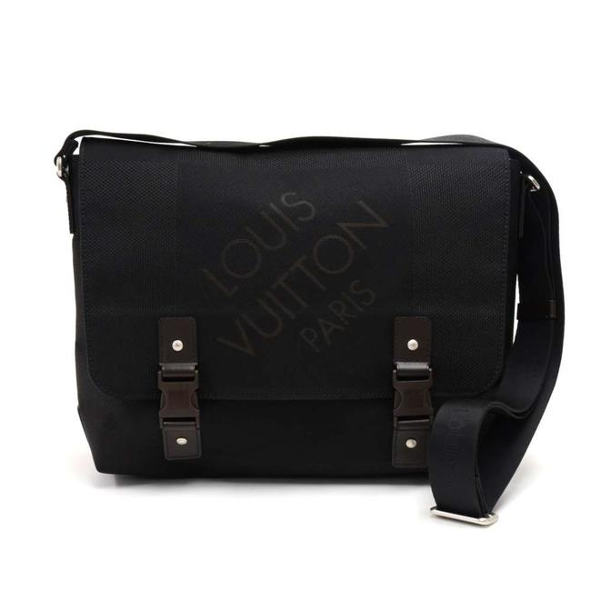 Item - Loup Noir Damier Geant Black Cotton Blend Messenger Bag