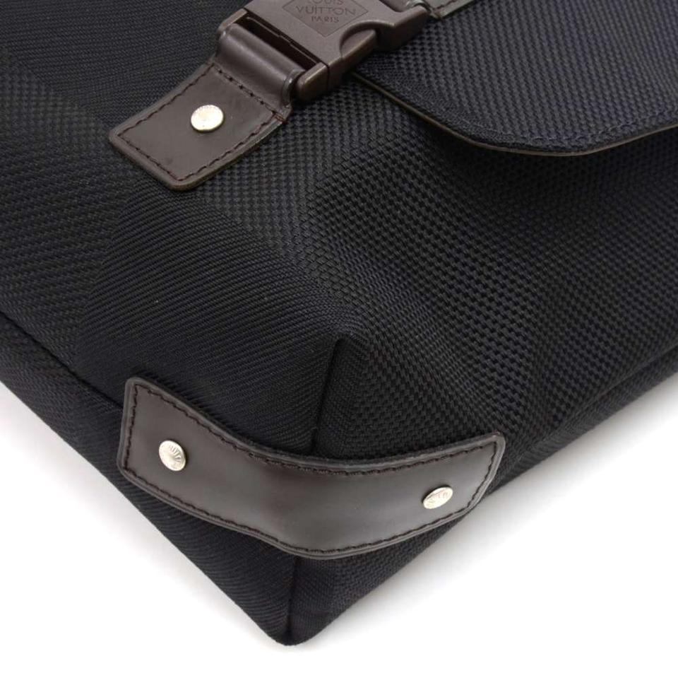 3d7787e05aaaf Louis Vuitton Loup Noir Damier Geant Black Cotton Blend Messenger ...