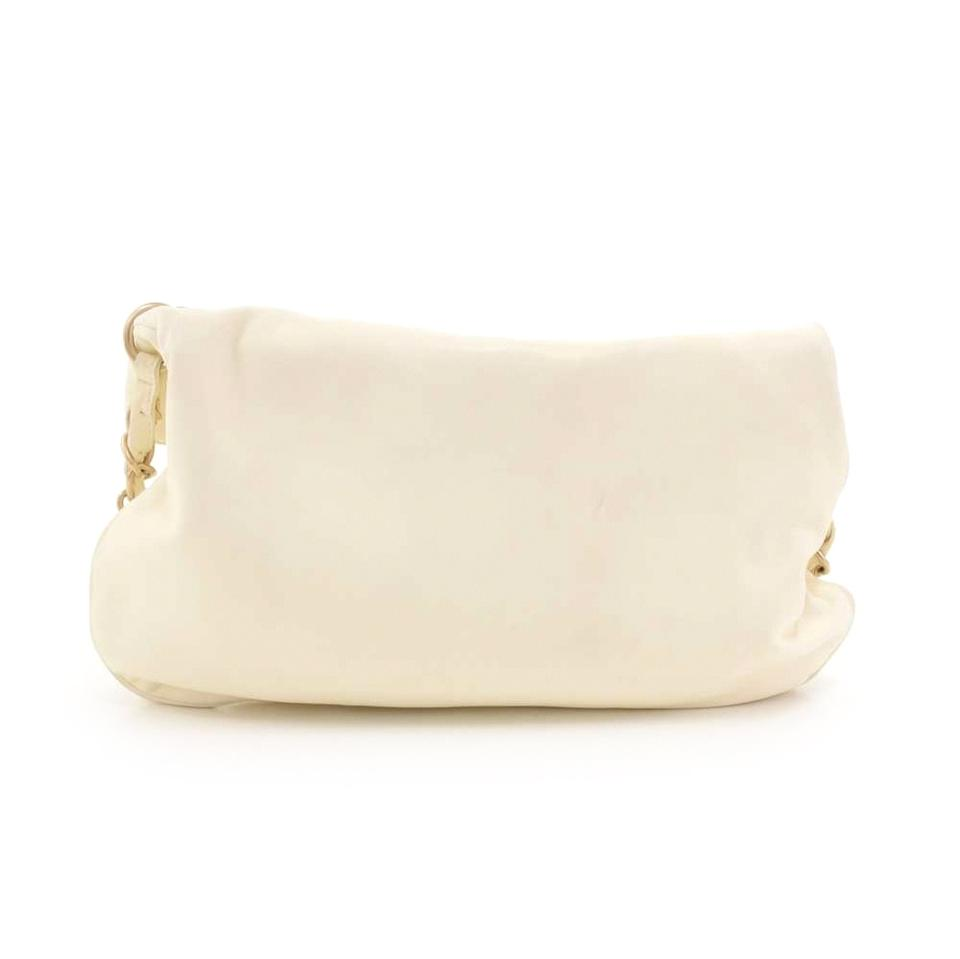 45bb77edc38faf Chanel Ball Charm Fold-over Bag-rare White Lambskin Leather Shoulder Bag -  Tradesy