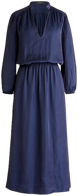 Preload https://img-static.tradesy.com/item/24127675/jcrew-navy-drapey-cinched-waist-mid-length-night-out-dress-size-12-l-0-1-650-650.jpg