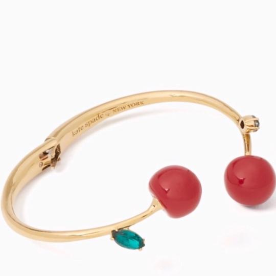 Kate Spade NEW Kate Spade Ma Chèrie Cherry Open Hinged Cuff Image 2