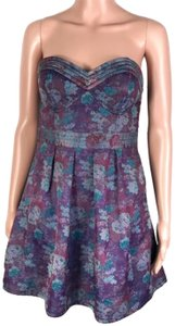 Free People short dress Purple/Blue on Tradesy