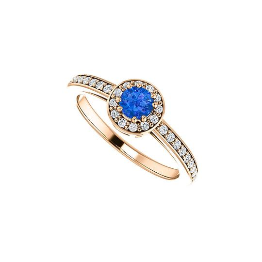 Preload https://img-static.tradesy.com/item/24127889/blue-simulated-sapphire-and-cz-halo-rose-gold-vermeil-ring-0-0-540-540.jpg