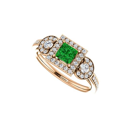 Preload https://img-static.tradesy.com/item/24128003/green-square-emerald-round-cz-new-design-halo-in-vermeil-ring-0-0-540-540.jpg