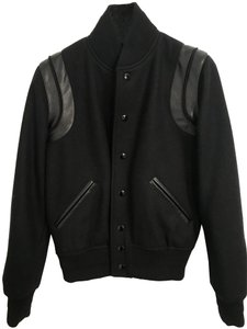 Saint Laurent Wool Leather Jacket