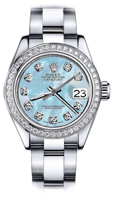 Rolex Stainless Steel Baby Blue Pearl 36mm Datejust Ss Oyster Bracelet Watch Rolex Stainless Steel Baby Blue Pearl 36mm Datejust Ss Oyster Bracelet Watch Image 1