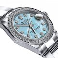 Rolex Stainless Steel Baby Blue Pearl Tr 36mm Datejust Ss Oyster Bracelet & Watch Rolex Stainless Steel Baby Blue Pearl Tr 36mm Datejust Ss Oyster Bracelet & Watch Image 2