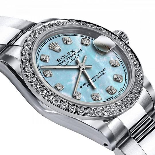 Rolex Rolex Baby Blue Pearl TR 36mm Datejust SS Oyster Bracelet & Auth Image 1