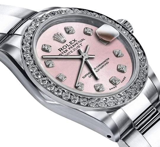 Preload https://img-static.tradesy.com/item/24128180/rolex-stainless-steel-baby-light-matte-pink-36mm-datejust-ss-oyster-bracelet-and-diamond-watch-0-1-540-540.jpg