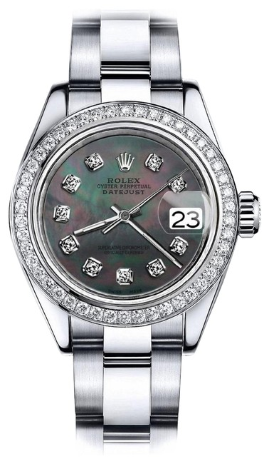 Rolex Stainless Steel Black Pearl 36mm Datejust Oyster Bracelet Watch Rolex Stainless Steel Black Pearl 36mm Datejust Oyster Bracelet Watch Image 1
