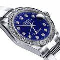 Rolex Stainless Steel Blue 36mm Datejust Oyster Bracelet & Diamond Watch Rolex Stainless Steel Blue 36mm Datejust Oyster Bracelet & Diamond Watch Image 2