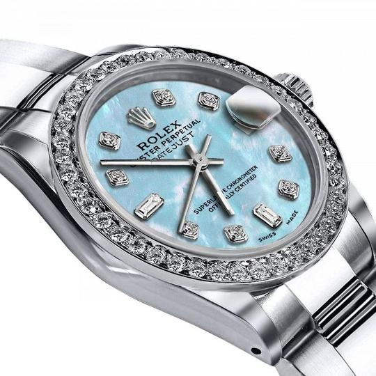 Rolex Rolex Blue Pearl 8+2 36mm Datejust Stainless Steel Oyster Bracelet Image 1