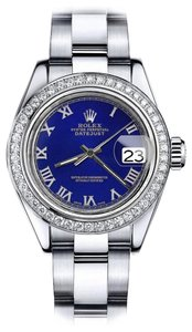 Rolex Rolex Blue Roman 36mm Datejust Stainless Steel Oyster Bracelet