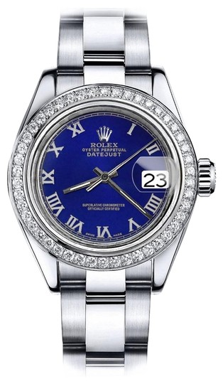 Preload https://img-static.tradesy.com/item/24128285/rolex-stainless-steel-blue-roman-36mm-datejust-oyster-bracelet-watch-0-1-540-540.jpg