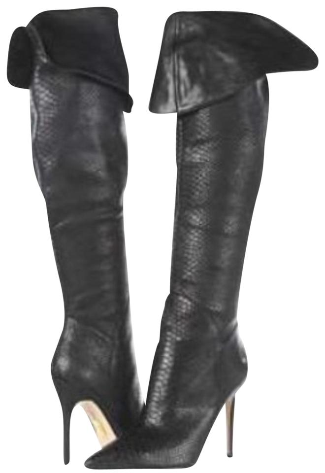 c97e35e89399 Truth or Dare by Madonna Black Gia Snake Boots Booties Size US 7.5 ...