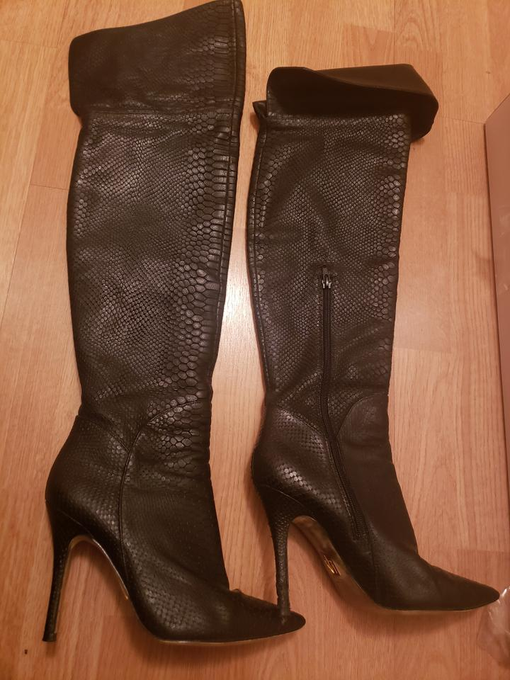 e2d80c1e8f34 Truth or Dare by Madonna Black Gia Snake Boots Booties Size US 7.5 Regular  (M