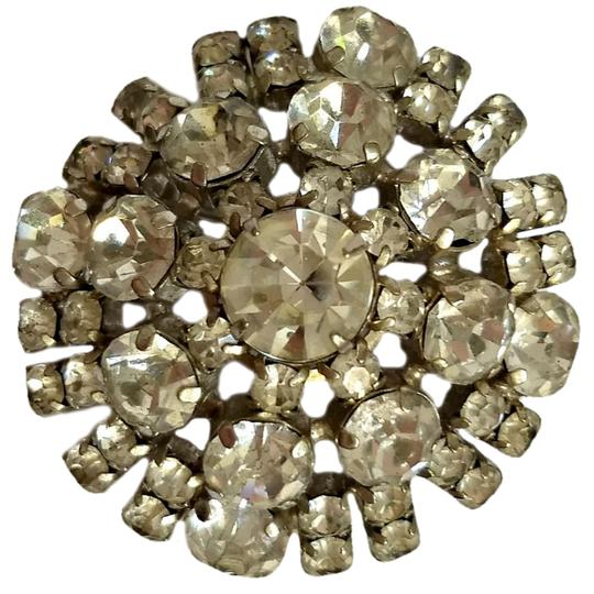 Preload https://img-static.tradesy.com/item/24128375/silver-antique-brooch-crystal-rhinestone-40s-1940s-dome-domed-pin-0-0-540-540.jpg