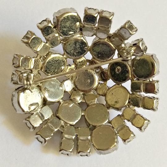 Vintage Antique Brooch Crystal Rhinestone 40s 1940s Dome Domed Pin Vintage Image 2