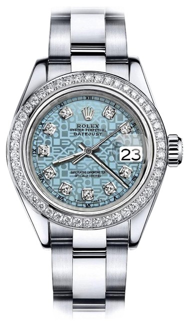 Rolex Stainless Steel Ladies 36mm Datejust Ss Oyster Bracelet Ice Blue Dial Watch Rolex Stainless Steel Ladies 36mm Datejust Ss Oyster Bracelet Ice Blue Dial Watch Image 1