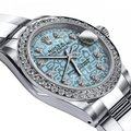 Rolex Stainless Steel Ladies 36mm Datejust Ss Oyster Bracelet Ice Blue Dial Watch Rolex Stainless Steel Ladies 36mm Datejust Ss Oyster Bracelet Ice Blue Dial Watch Image 2