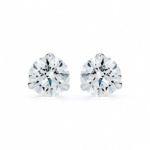 Gavriel's Jewelry Three Prong Diamond Stud Earrings 0.50 cttw