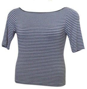 Polo Jeans Co Striped Sleeve T Shirt Navy Blue