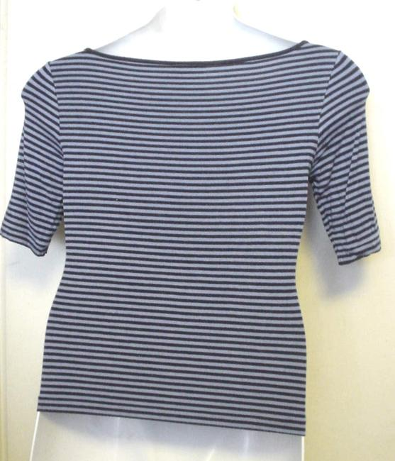 Polo Jeans Co Striped Sleeve T Shirt Navy Blue Image 1