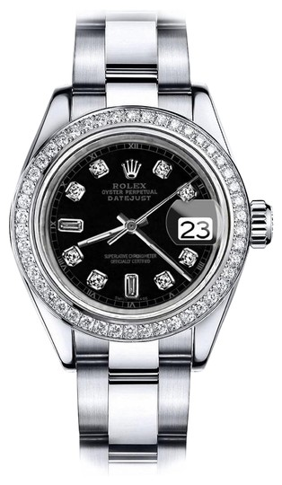 Preload https://img-static.tradesy.com/item/24128494/rolex-stainless-steel-black-36mm-datejust-oyster-watch-0-1-540-540.jpg