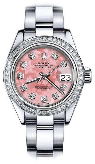 Preload https://img-static.tradesy.com/item/24128502/rolex-stainless-steel-pink-flower-36mm-datejust-ss-oyster-bracelet-and-natural-diamonds-watch-0-1-540-540.jpg