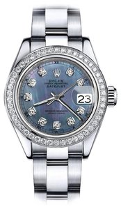 Rolex Rolex Tahitian Pearl 36mm Datejust Stainless Steel Oyster Bracelet