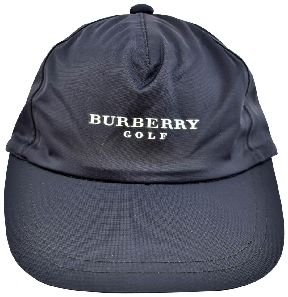 Burberry Golf  Navy Blue   Logo Baseball Golf Hat Cap Sz  S M ... e6fa887ffde