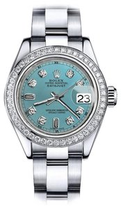 Rolex Rolex Turquoise 8+2 36mm Datejust Stainless Steel Oyster Bracelet
