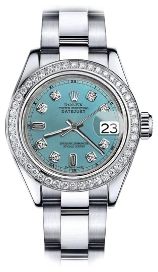Preload https://img-static.tradesy.com/item/24128623/rolex-stainless-steel-turquoise-82-36mm-datejust-oyster-bracelet-watch-0-1-540-540.jpg