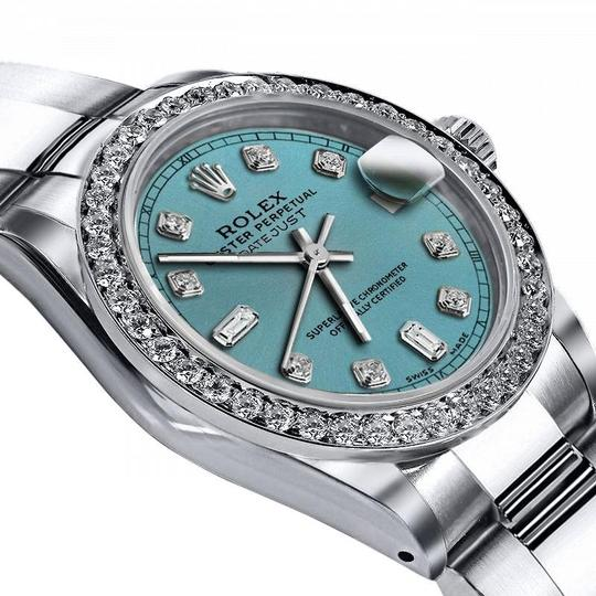 Rolex Rolex Turquoise 8+2 36mm Datejust Stainless Steel Oyster Bracelet Image 1