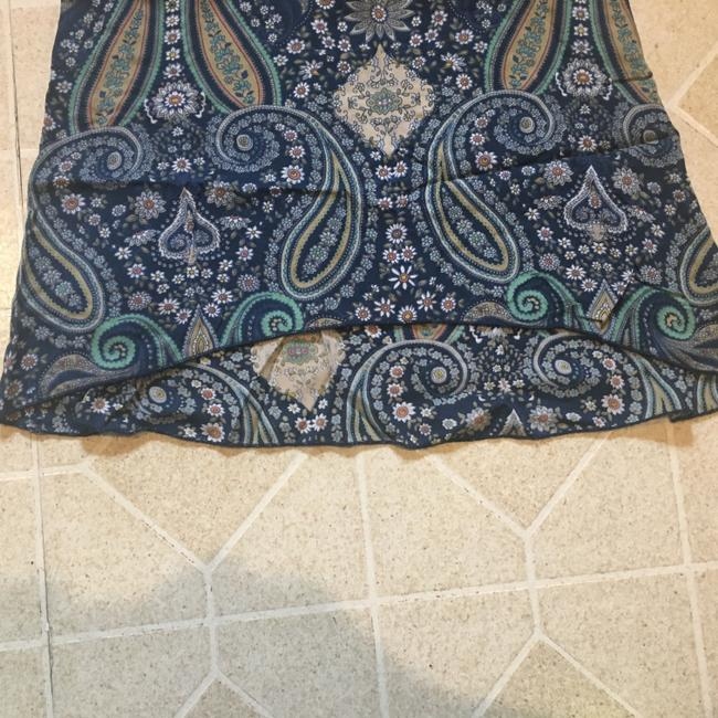 O'Neill Paisley Hi Lo Top Blue Green Taupe white Image 4