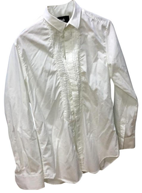 Item - White Dolce & Gabbanna Button-down Top Size OS (one size)