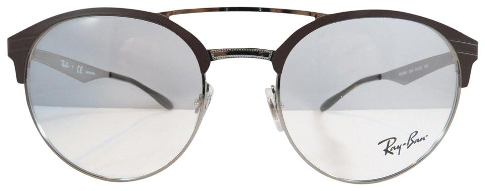 da333ec3a220 Ray-Ban Brown Silver New Rounded Metal 3545v 2912 Optical Sunglasses ...