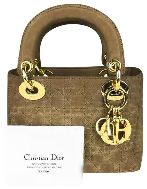 Item - Bag Quilted Cannage Satin Mini Logo Charms Women's Sale Brown Nylon Tote