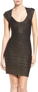 French Connection Metallic Bebe Herve Bandage Dress