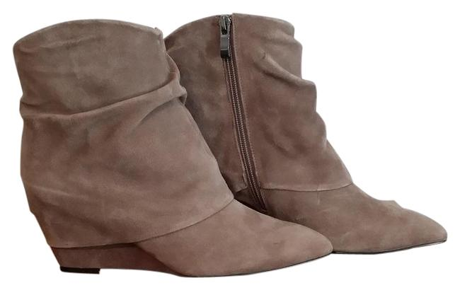 Item - Taupe Nwob Suede Wedge 7.5m Zip Closure Boots/Booties Size US 7.5 Regular (M, B)