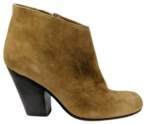 Peter Nappi Suede Leather Chunky Heel Ankle Tan Boots