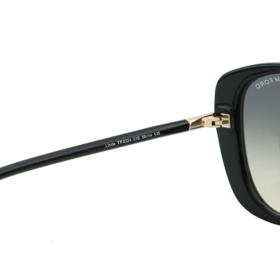 1b033cfcbd2 Tom Ford New TF Linda FT9324 01B Women Metal T Logo Butterfly Sunglasses  Image 8. 123456789