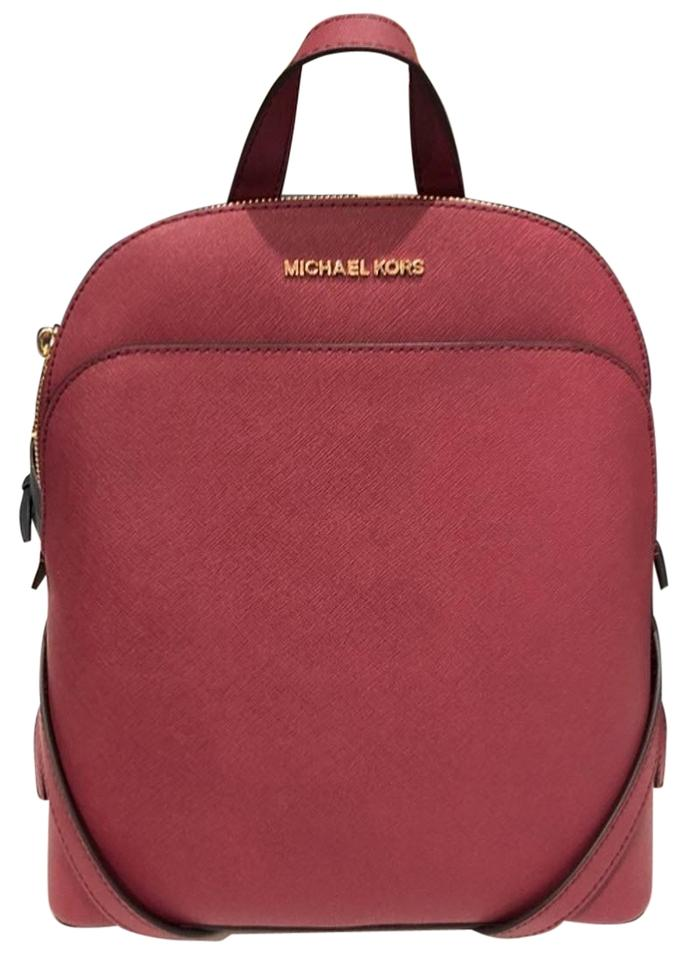639d2500d9d7 Michael Kors Emmy Mulberry Red Leather Backpack - Tradesy